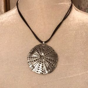 Jewelry - Brown Leather Silver Dollar Necklace